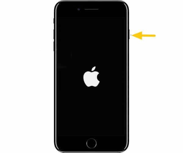 turn on iphone 7