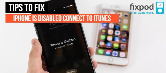 "How to Fix to ""iPhone is disabled connect to iTunes"" error in iPhone or iPad"